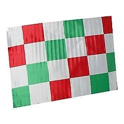 BANDIERONE TRICOLORE ITALIA  A SCACCHI