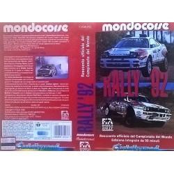 VHS MONDOCORSE , MONDIALE RALLY 92