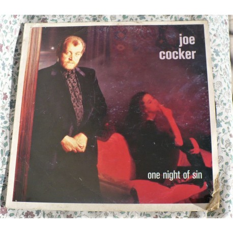 "LP JOE COCKER "" ONE NIGHT SIN  MADE IN ITALY 1989"