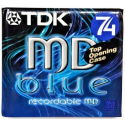 N.1 TDK MINI DISK MD 74 BLUE BRAND NEW