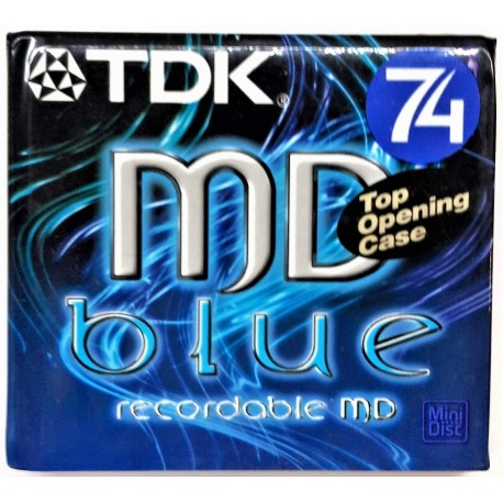 N.1 TDK MINI DISK MD 74 BLUE BRAND NEW