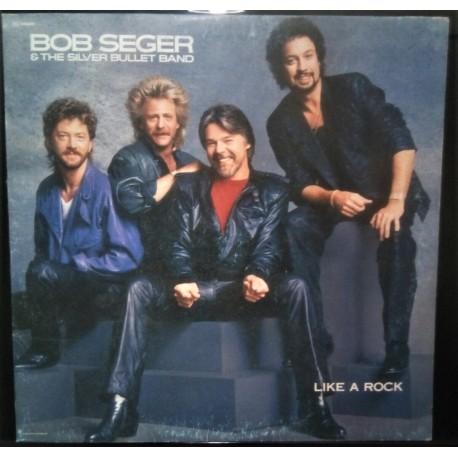 BOB SEGER & THE SILVER BULLET BAND - LIKE A ROCK LP FAIR/EX- 1986 ITALY CAPITOL