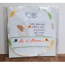 BAVETTA RICAMATA  - IL MIO AMORE - SPUGNA COT.100% COLORE BIANCO