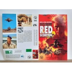 SOLO COPERTINA FASCETTA COVER - RED SCORPION - NO VHS ,DVD