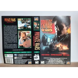 SOLO COPERTINA FASCETTA COVER - PRIVATE WARS GIUSTIZIA PRIVATA - NO VHS ,DVD